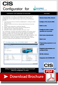 Download the CIS Configurator - SAGE 300 ERP integration brochure